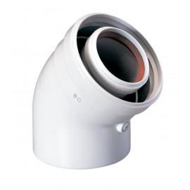 Коаксиальный отвод 45°, диам. 60/100 мм без муфты Baxi (KHG71410161)